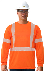 Hi-Viz Cotton Long Sleeve T-Shirt