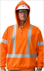 Traffic Safety 1/4 Zip Hooded Sweatshirt