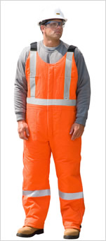 Traffic Safety Insulated Bib Overall