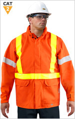 Hi-Viz ARC/FR Breathable Waterproof Jacket