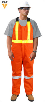 Hi-Viz ARC/FR Breathable Waterproof Bib Overall
