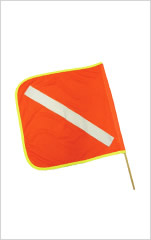 Traffic Flag with Reflective Tape